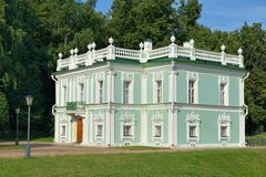 Italienisches Haus in Kuskovo Lizenzfreies Stockfoto