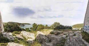 Italienisches Küstenmeer Vieste-peschici Strandes Stockfoto