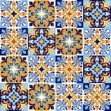 Italienisches Keramikziegelmuster Ethnische Volksverzierung lizenzfreie abbildung