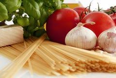 Italienisches Kochen Stockfoto