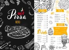 Italienisches Lebensmittelmenü für Restaurant 3 Stockfotografie