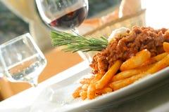 Italienisches maccheroni Lizenzfreie Stockfotos
