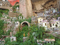 Italienisches Miniaturdorf Stockbild
