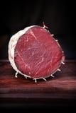 Italienisches Mittagessenfleisch bresaola lizenzfreie stockbilder