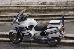Italienisches Polizeimotorrad Stockbild