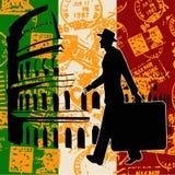 Italienisches Reisen-Flugblatt Lizenzfreie Stockfotografie