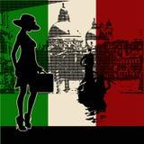Italienisches Reisen-Flugblatt Lizenzfreies Stockbild