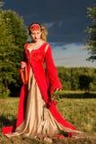 Italienisches Renaissancekleid stockbilder