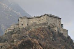Italienisches SchlossValle d'Aosta lizenzfreies stockbild