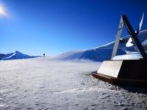 Italienisches Skiort Carosello im Winter lizenzfreie stockfotos