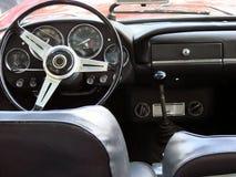Italienisches Sportautocockpit Stockbild