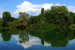 Italienisches Sumpfgebiet Lizenzfreie Stockbilder