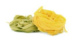 Italienisches Teigwaren tagliatelle Lizenzfreie Stockfotos