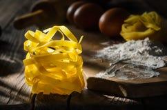 Italienisches Teigwaren tagliatelle Stockfotografie