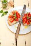 Italienisches Tomate bruschetta Stockbild