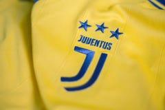 Italienisches Trikot des Fußballclubs FC Juventus Turin lizenzfreies stockbild