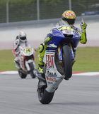 Italienisches Valentino Rossi Teams des Fiat-Yamaha Stockfotografie