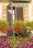 Italienisches windowbox Lizenzfreies Stockfoto