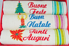 Italienisches Winterfeiertagsessgeschirr Stockbilder