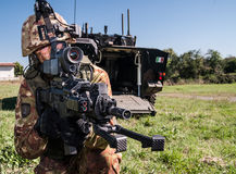 Italienisches zukünftiges Soldatprojekt Lizenzfreie Stockfotos