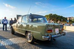 Italienisches Zustands-Polizei-mobiler Abteilungs-Alpha 1971 Giulia Super Lizenzfreies Stockfoto