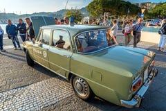 Italienisches Zustands-Polizei-mobiler Abteilungs-Alpha 1971 Giulia Super Lizenzfreie Stockfotos