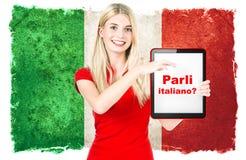 Italienischsprachiges lernenkonzept Lizenzfreie Stockfotos