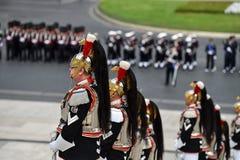 Italiens nationaler Schutz der Ehre während einer Militärzeremonie stockfotografie
