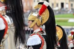 Italiens nationaler Schutz der Ehre während einer Militärzeremonie stockfoto