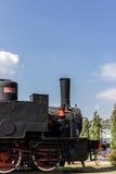 Italiensk ångalokomotiv Arkivfoto
