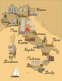 italiensk översikt royaltyfri illustrationer