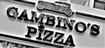 Italiensk amerikansk märkesnamn av en restaurang arkivbild