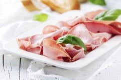 Italiensk antipasto med mortadella av bolognaen Arkivfoto