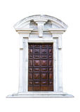 Italiensk arkitekturdetalj Gammal medeltida stilytterdörr Royaltyfria Foton