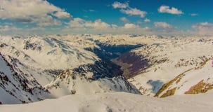 Italiensk bergsikt Motionlapse 4k stock video