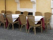Italiensk cafe Arkivbild