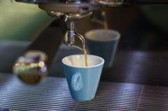 Italiensk coffemaskin Arkivbild