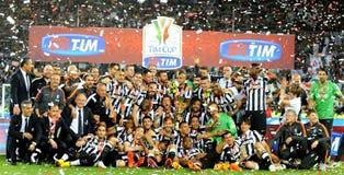 Italiensk cupfinal 2015 Fotografering för Bildbyråer