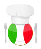 Italiensk design för kokkonstbegreppsillustration Fotografering för Bildbyråer