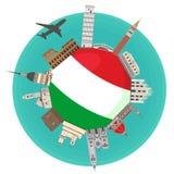 Italiensk dragning vektor illustrationer
