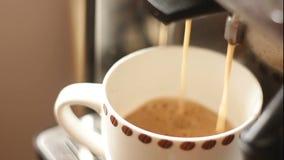 Italiensk espresso stock video