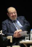 Italiensk författare Umberto Eco i Istanbul, Turkiet royaltyfria foton