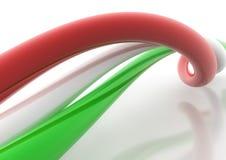 Italiensk flagga Royaltyfri Bild