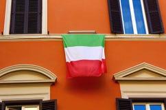 Italiensk flagga Arkivfoton