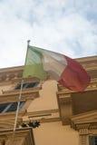 Italiensk flagga i Palermo, Sicilien Royaltyfri Fotografi