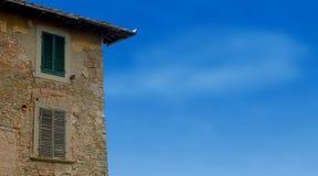 italiensk gammal villa Arkivbild