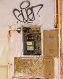 Italiensk gasmeter Arkivbilder