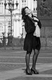 italiensk gatakvinna för härlig stad Arkivbild