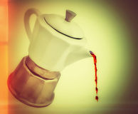 Italiensk kaffebryggare Fotografering för Bildbyråer