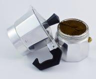 Italiensk kaffebryggare Arkivfoto